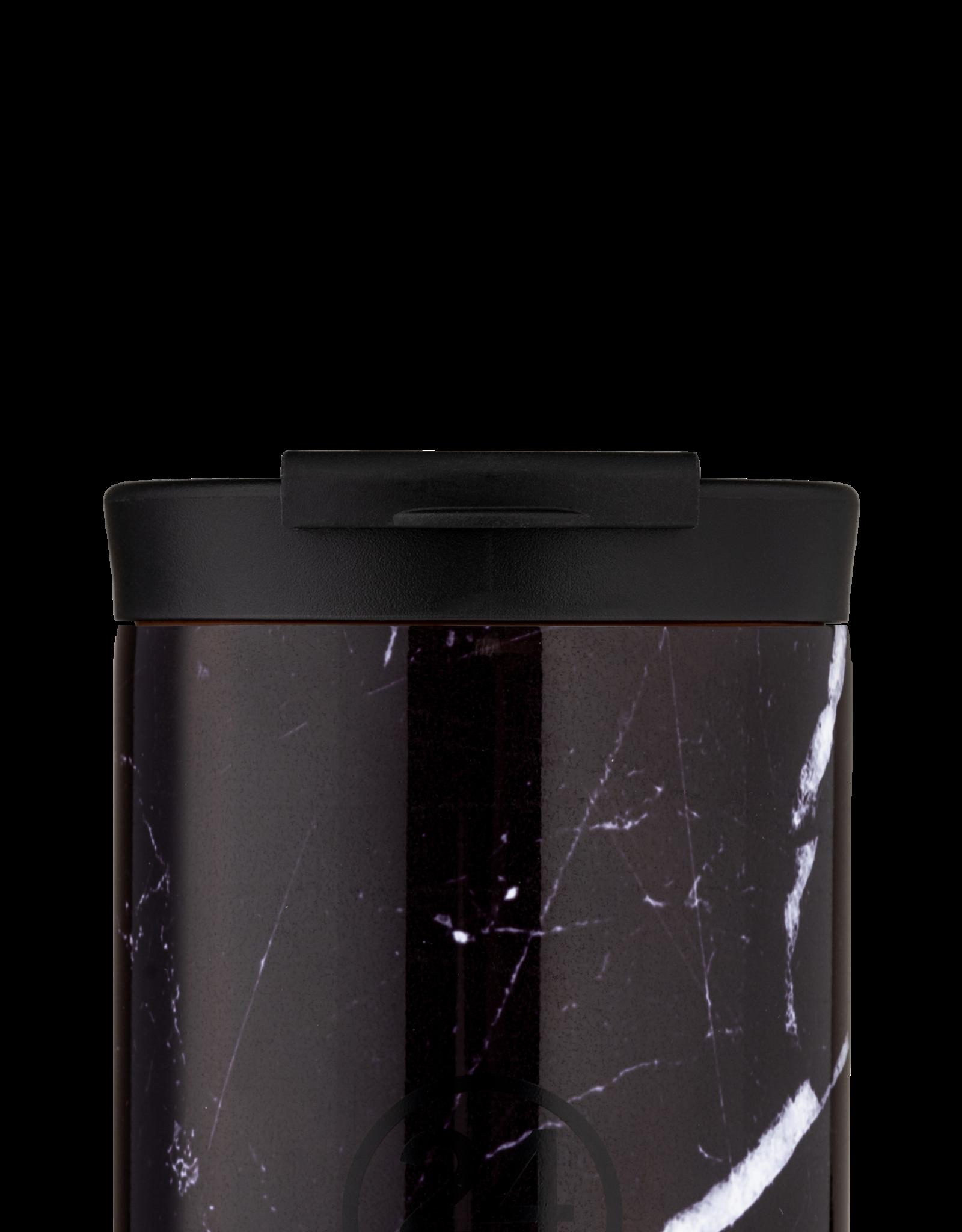 24 bottles Travel tumbler koffiebeker - Black marble 350 ml