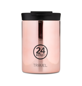 24 bottles Travel tumbler koffiebeker - Rose gold 350 ml