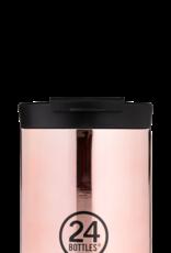 24 bottles Travel tumbler koffiebeker - Rose gold 350 ml
