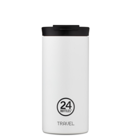 24 bottles Travel tumbler koffiebeker - Ice white 600 ml