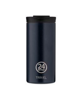 24 bottles Travel tumbler koffiebeker - Deep blue 600 ml