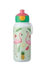 Mepal Drinkfles pop-up Campus 400 ml - Tropical flamingo