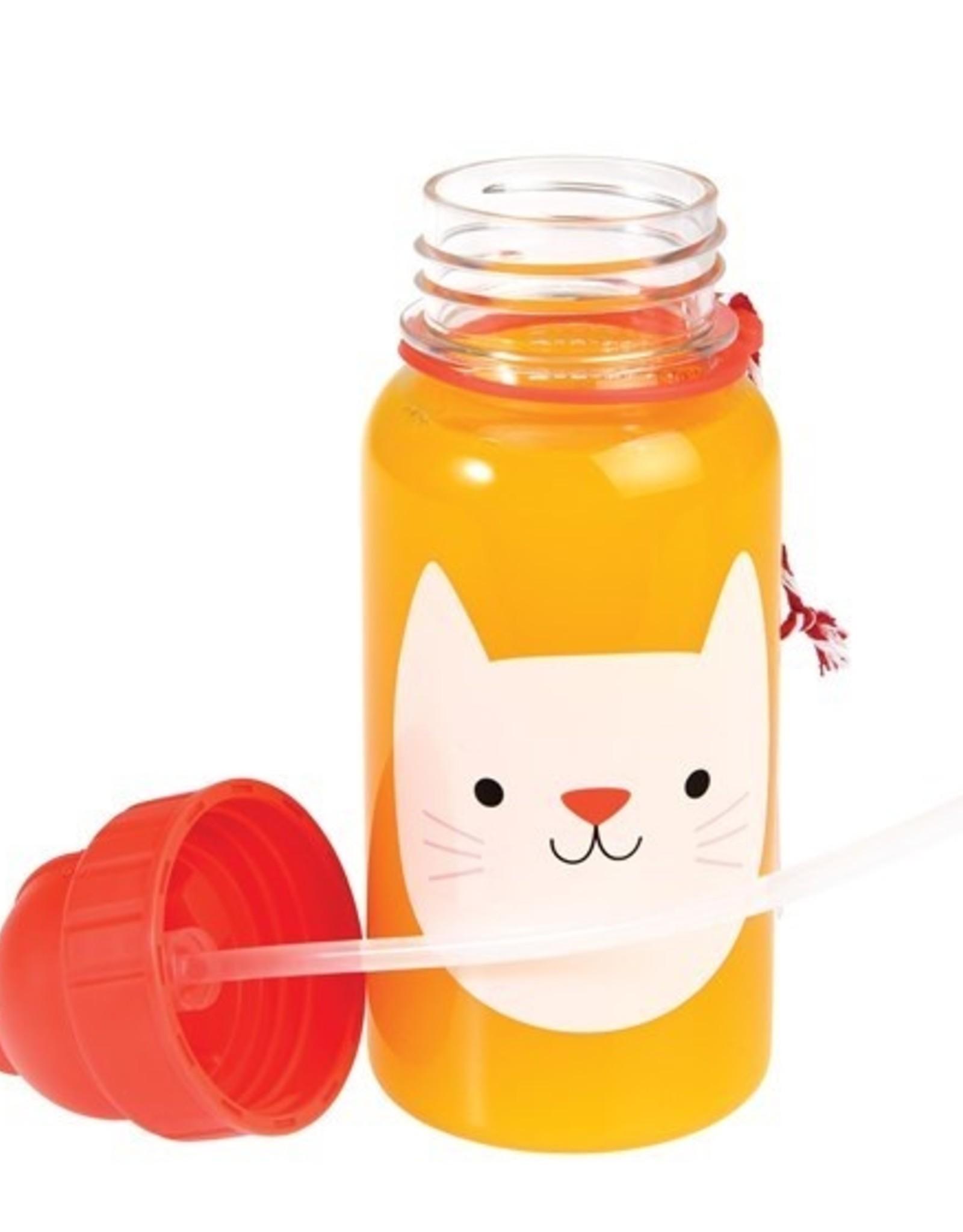 Rex London Drinkbus met rietje - Cookie the cat 500 ml