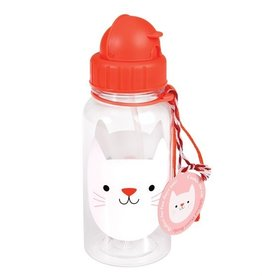 Rex London Drinkbus met rietje - Cookie the cat 500 ml