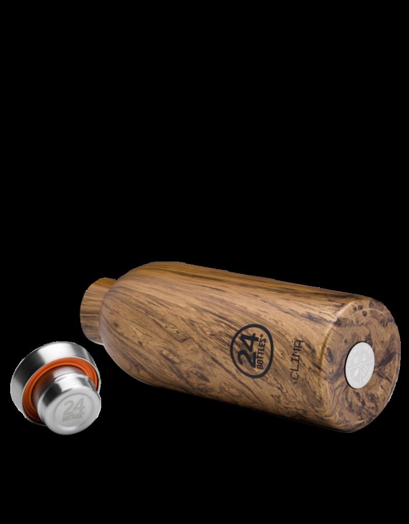 24 bottles Clima bottle - Sequoia wood 850 ml