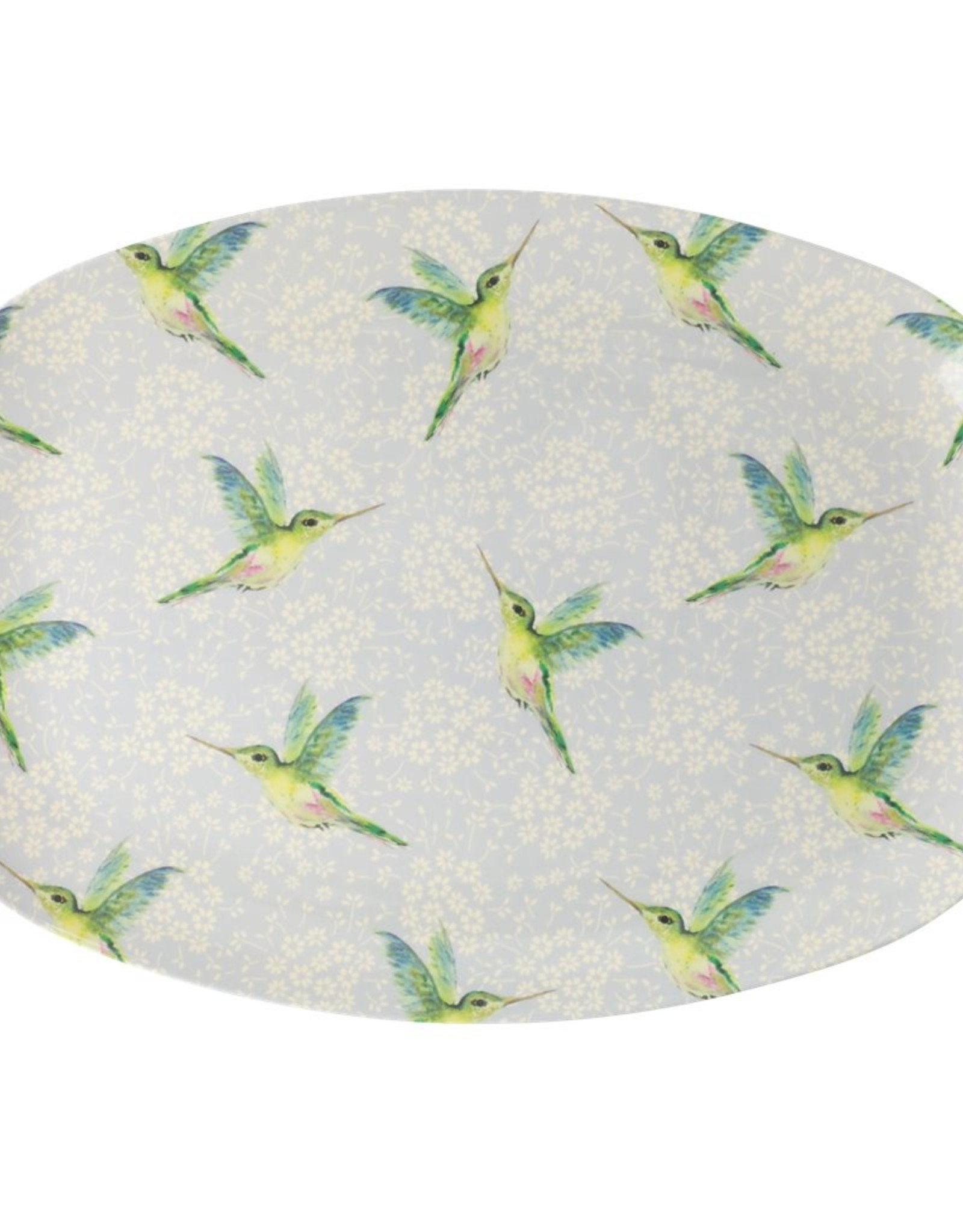 Rice Langwerpig melamine bord - Hummingbird