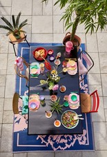 Rice Langwerpig melamine bord - Summer stripes