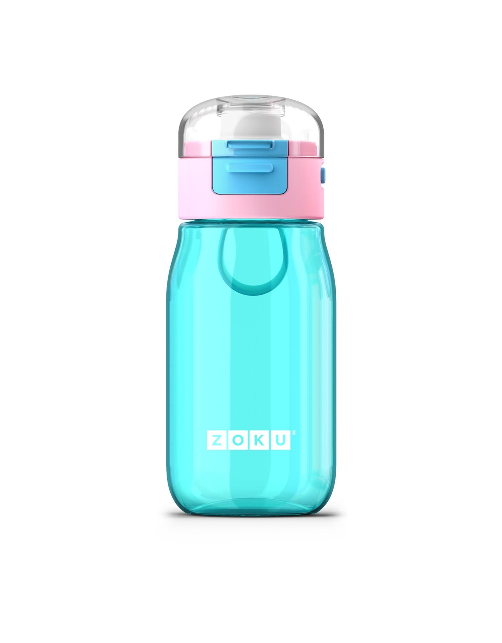 Zoku Kids flip gulp fles 475 ml - Turquoise