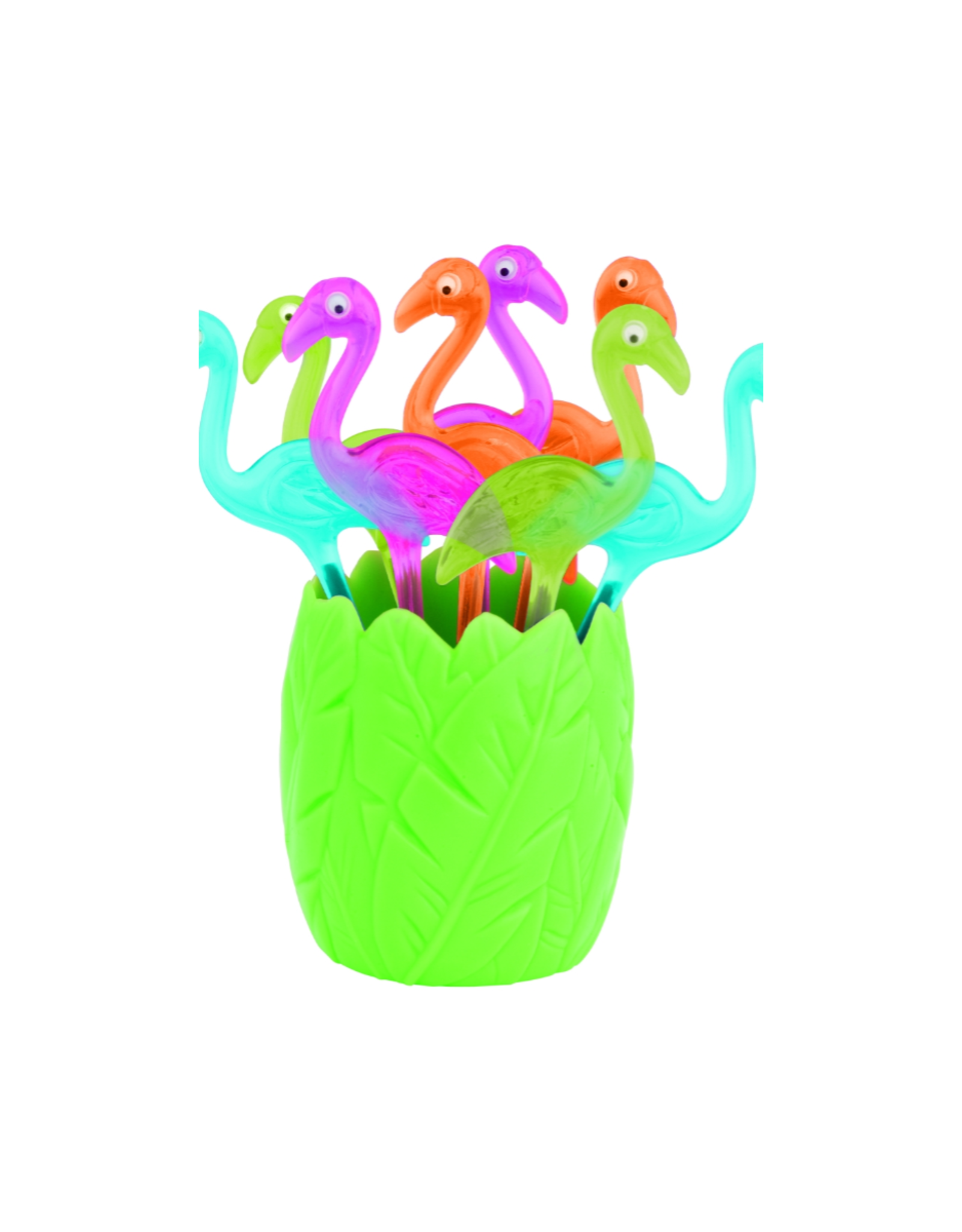 Zak! Designs Prikkers flamingo - Set van 8