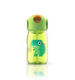Zoku Drinkfles kids flip met rietje 415 ml - Groen