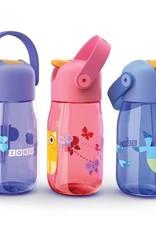 Zoku Drinkfles kids flip met rietje 415 ml - Paars