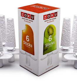 Zoku Quick Pop Sticks (Set voor 6 ijsjes)