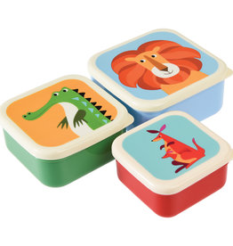 Rex London Snackdoosjes (set van 3) - Colorful creatures