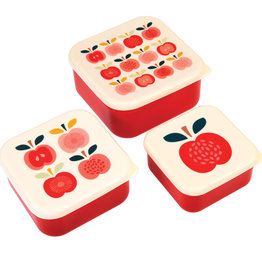 Rex London Snackdoosjes (set van 3) - Vintage apple