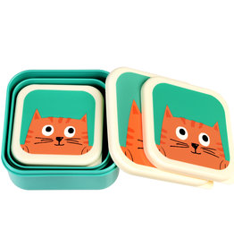 Rex London Snackdoosjes (set van 3) - Chester cat