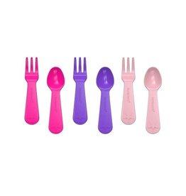 Lunch Punch PRE-ORDER Mini vork en lepel set - Pink