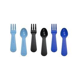 Lunch Punch PRE-ORDER Mini vork en lepel set - Blue