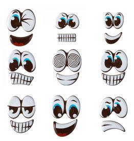 Chocolade ogen met mond - 3 stuks