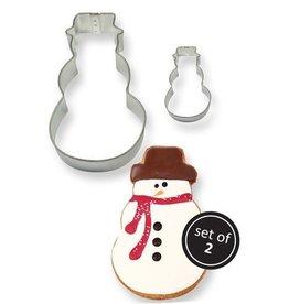 Uitsteker sneeuwman - Set van 2