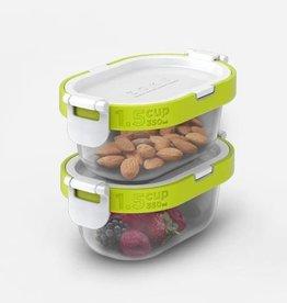 Zoku Neat Stack snack pack - Set van 4 stuks