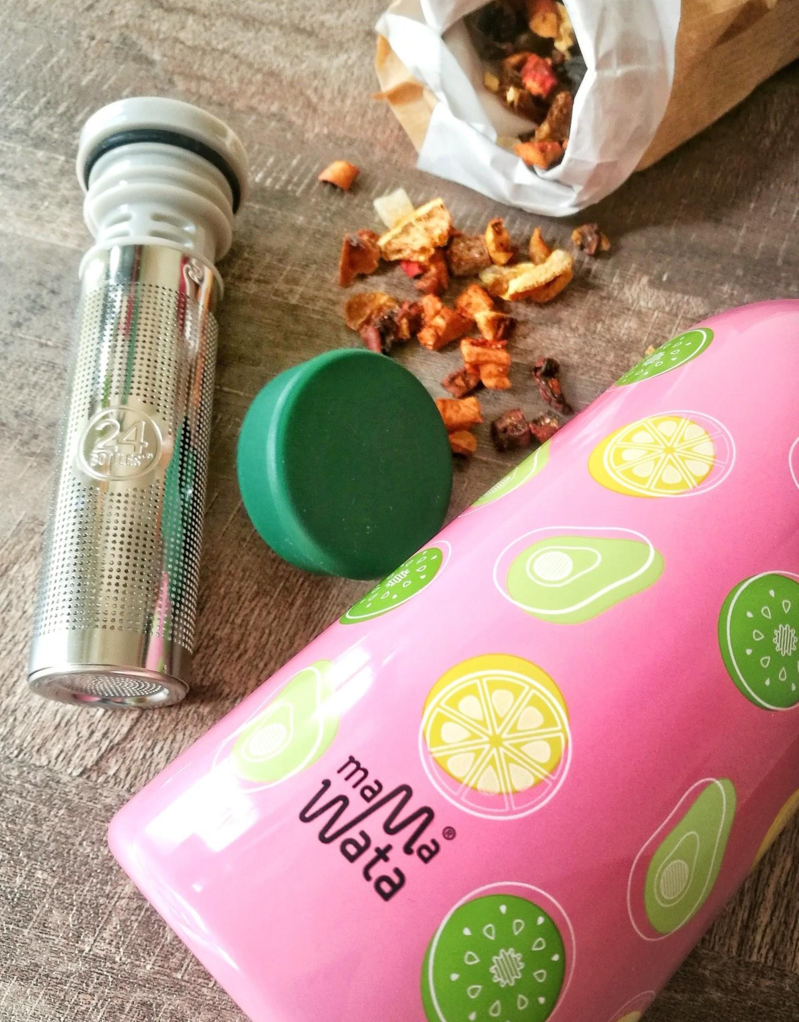 Mama Wata Mama Wata thermische drinkfles + tea infuser 470 ml - Fruits