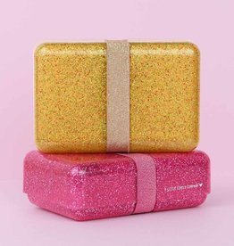 A Little Lovely Company Lunch box - Glitter goud