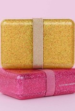 A Little Lovely Company  Lunch box - Glitter pink