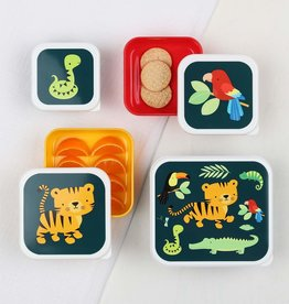 A Little Lovely Company Lunch en snackbox set - Jungle tiger