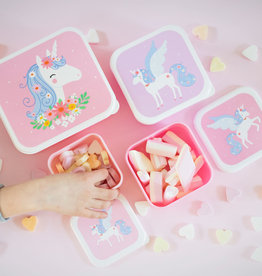 A Little Lovely Company Lunch en snackbox set - Unicorn