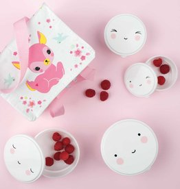 A Little Lovely Company Snackbox set - Happy face