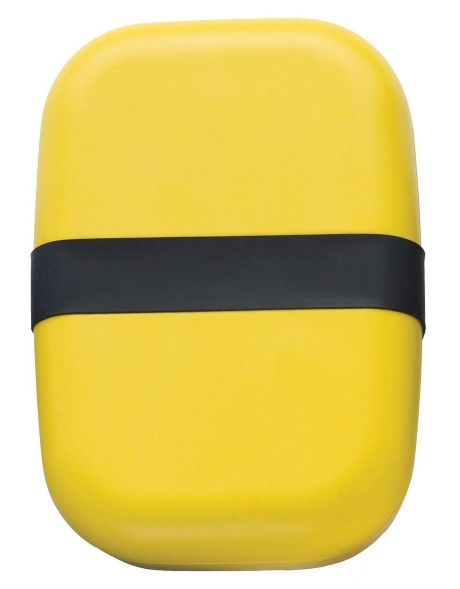 Ekobo Langwerpige bento lunchbox  in bamboe - Lemon