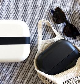 Ekobo Vierkante bento lunchbox  in bamboe - Zwart