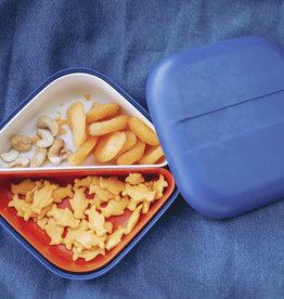 Ekobo Vierkante bento lunchbox  in bamboe - Royal blue