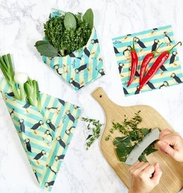 BeeBee & Leaf BeeBee wrap (set van 3) - Puffin