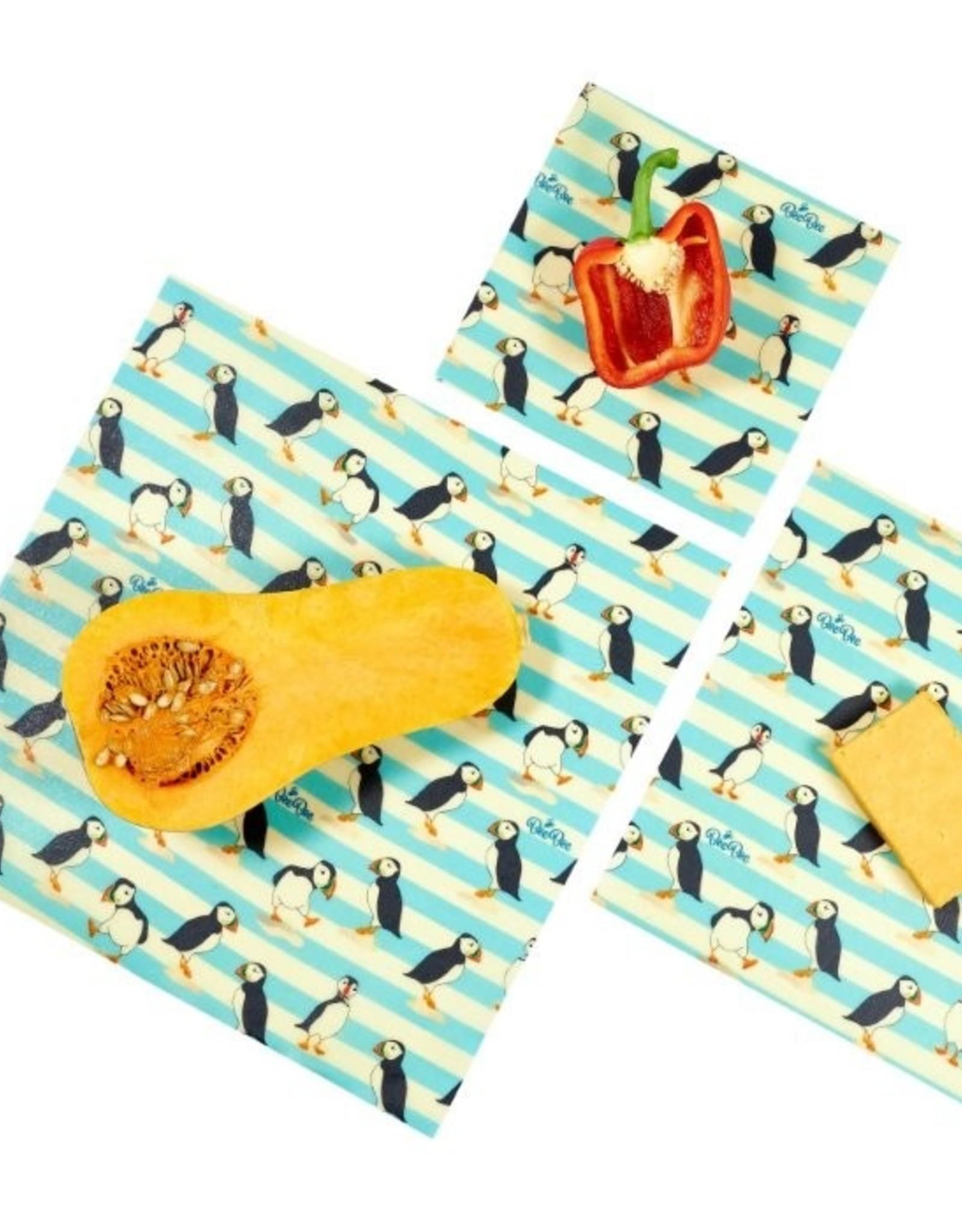 BeeBee & Leaf BeeBee wrap (set van 3) - Puffin