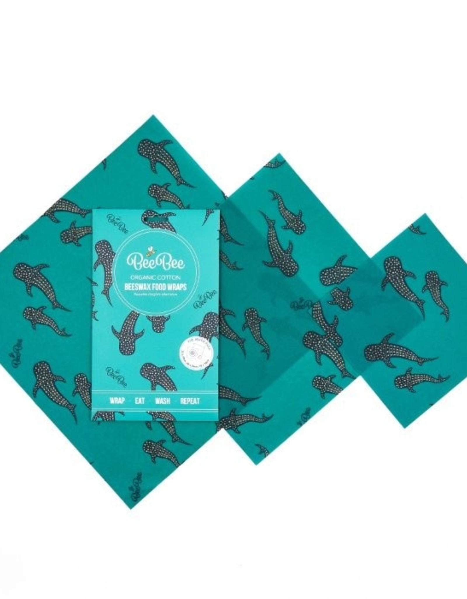 BeeBee & Leaf BeeBee wrap (set van 3) - Whale pod