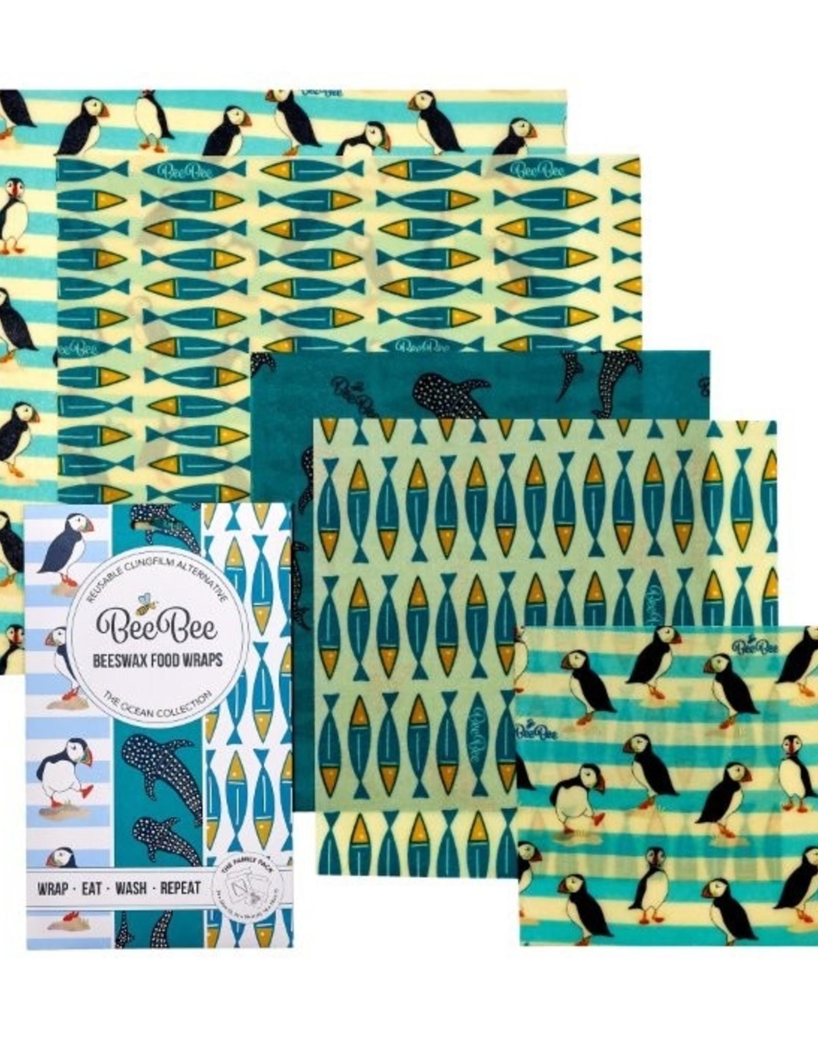 BeeBee & Leaf BeeBee wrap (set van 5) - Ocean
