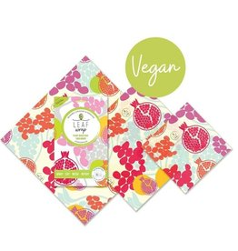 BeeBee & Leaf Leaf wrap (set van 3) - Pomegranate VEGAN