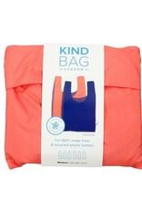Kind Bag Herbruikbare shopping tas - Peach and blue