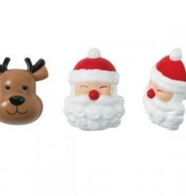 Blije Santa en rendier ringen - 2 stuks