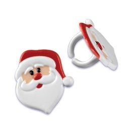 Kerstman ringen - 2 stuks