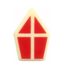 Chocolade mijter Sinterklaas - 2 stuks
