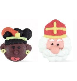 Sint en Piet hoofdjes - 2 stuks