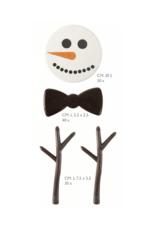 Chocolade sneeuwman set - 1 stuk