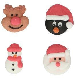 Suikerdecoratie Kerstmis - Set van 8
