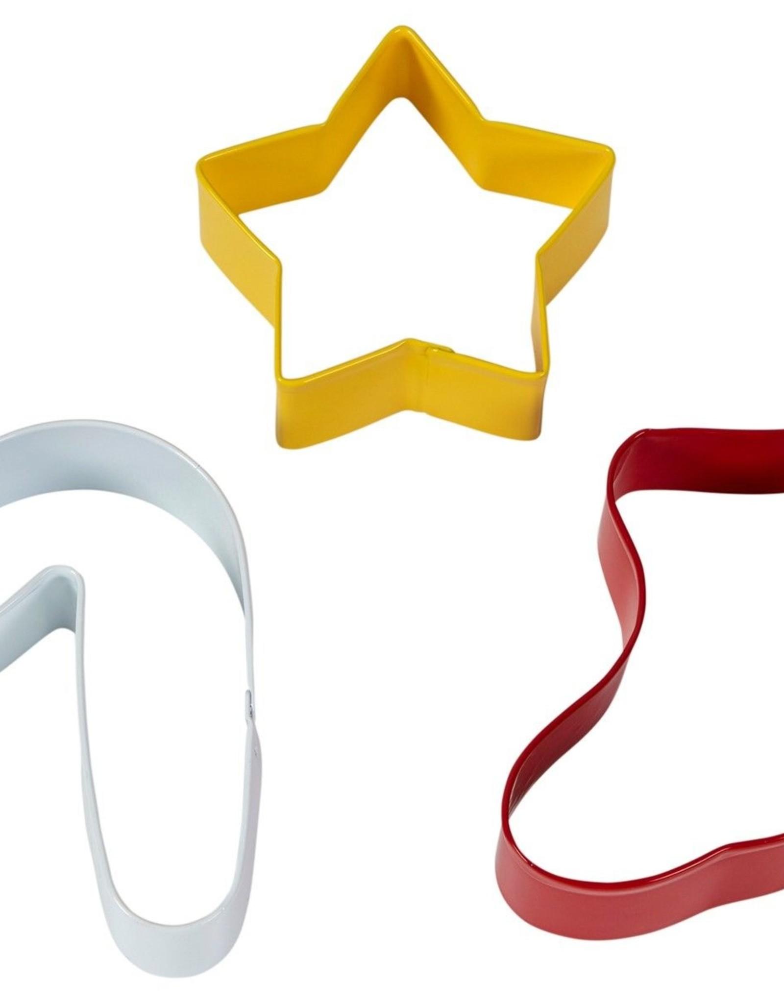 Wilton Uitsteker ster, sok, zuurstok - Set van 3