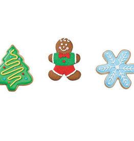 Wilton Uitsteker kerstboom, sneeuwvlokje, peperkoeken mannetje - Set van 3