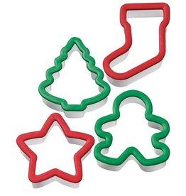 Plastieken uitstekers Kerst - Set van 4