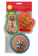 Wilton Silicone pannenkoeken vormpjes  - Set van 3