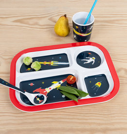 Rex London Melamine bord met 4 vakjes - Space age